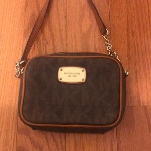 Michael Kors Jet Set Small Crossbody MK Pattern